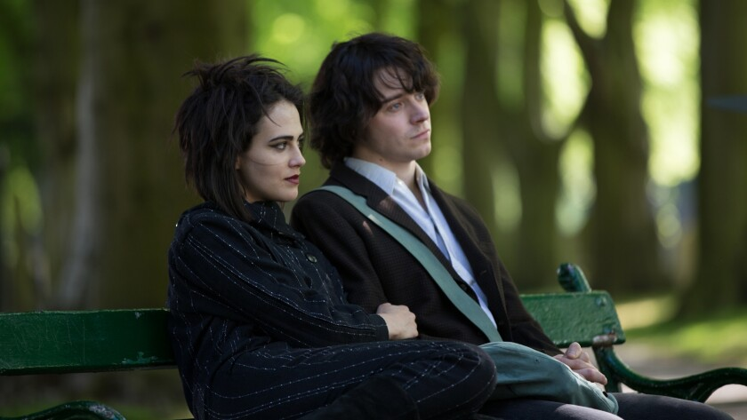 "Jessica Brown Findlay and Jack Lowden in the film ""England Is Mine."""