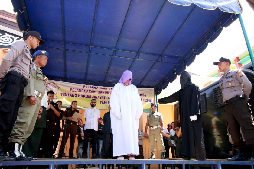 Islamic court caning