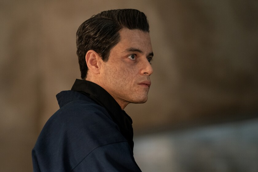 """Rami Malek as Safin in """"No Time to Die."""""""