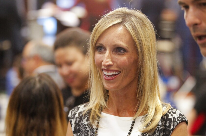 San Diego County Supervisor Kristin Gaspar, pictured here on a 2016 election night, recommended a charity she advised and raised money for be selected to run a $2 million county project. She subsequently resigned from the nonprofit advisory board.