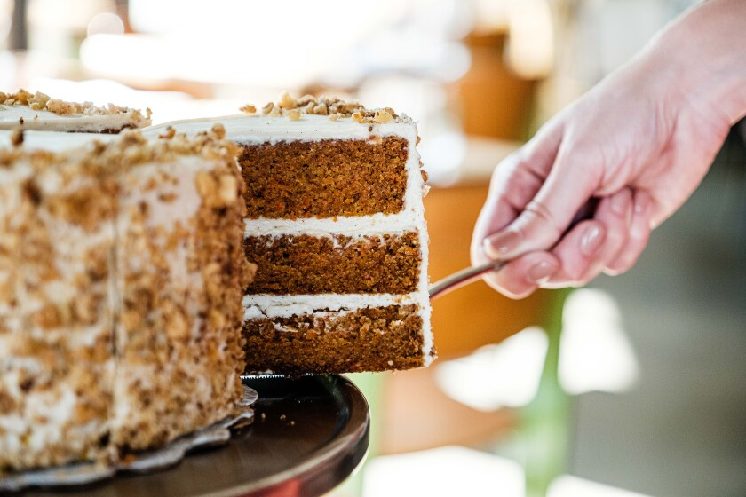 Executive pastry chef Jeremy Harville has baked up four winning cakes for Rare Society, including the carrot cake, a steakhouse classic.
