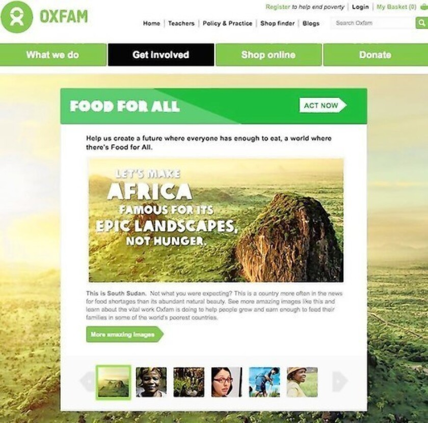 Ads to fight hunger in Africa, without the hungry