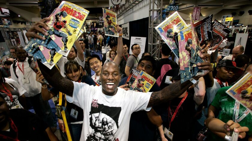 """When Hollywood star power and comics come together: """"Fast and Furious"""" actor Tyrese Gibson introduci"""