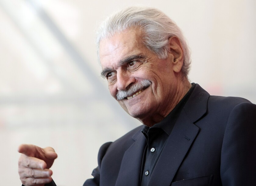 """In this Sept. 10, 2009, photo, Egyptian actor Omar Sharif appears during the photo call for the film """"The Traveller"""" at the Venice Film Festival in Venice, Italy."""