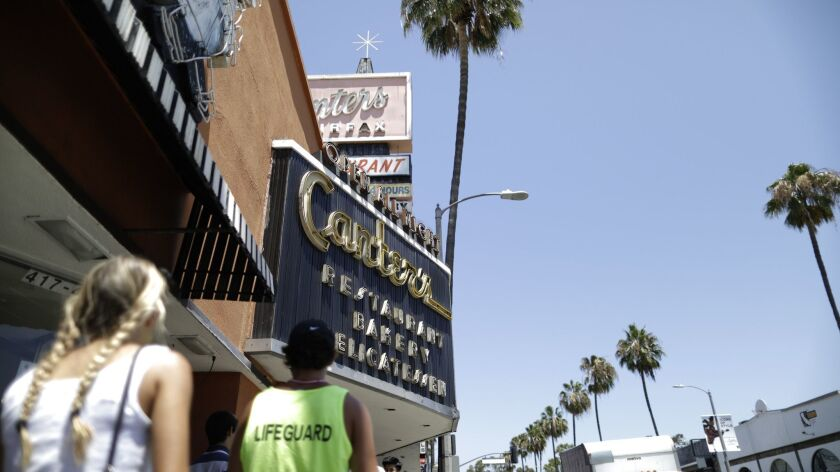 LOS ANGELES, CA -- JULY 13, 2018: Canter's on Fairfax Avenue has been a family-owned business for fo