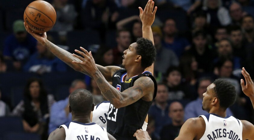 Lou Williams (23) has helped the Clippers elevate beyond expectations by clinching a playoff spot with a win Tuesday against the Timberwolves.