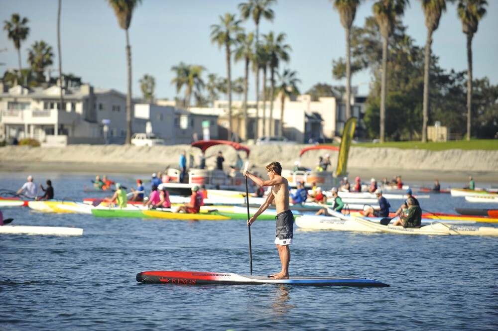 Athletes of all ages and experience levels paddled their way across Mission Bay at the 22nd Annual Hanohano Huki Ocean Challenge on Saturday, Jan. 27, 2018.