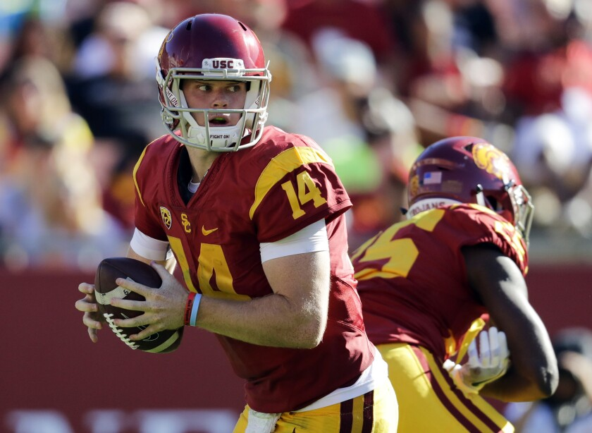 USC quarterback Sam Darnold looks to pass against Colorado on Oct. 8.