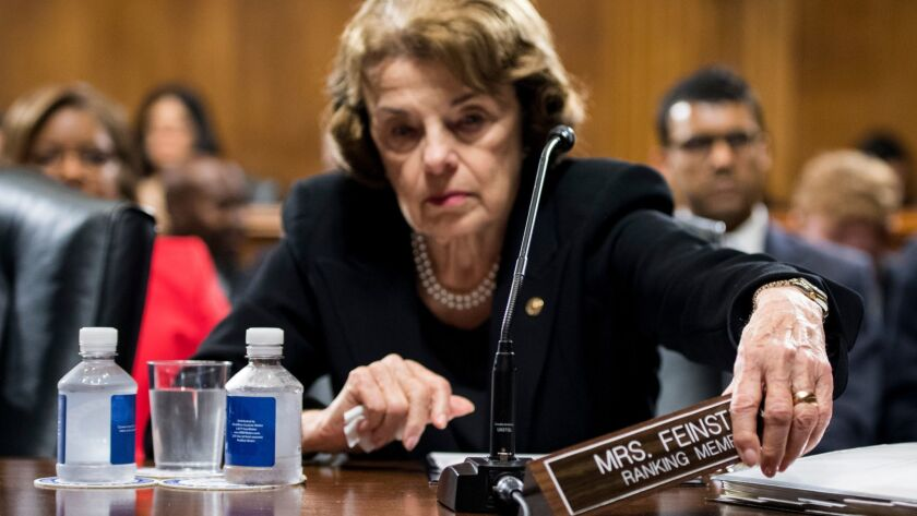 Sen. Dianne Feinstein of California finds herself in the middle of the political maelstrom over sexual assault allegations against high court nominee Brett Kavanaugh.
