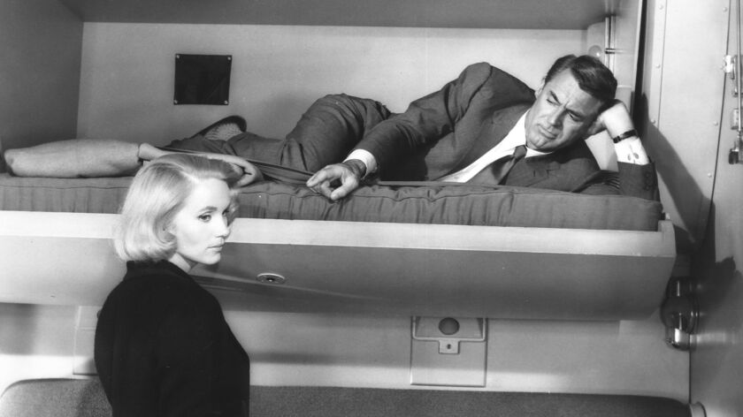 "Eva Marie Saint and Cary Grant in ""North by Northwest."""