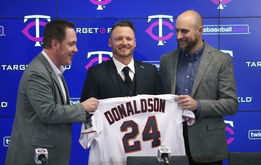 Twins Donaldson Baseball