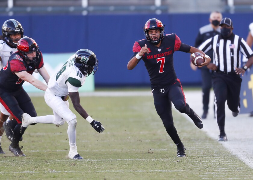 San Diego State backup quarterback Lucas Johnson could get a chance to start at Nevada.