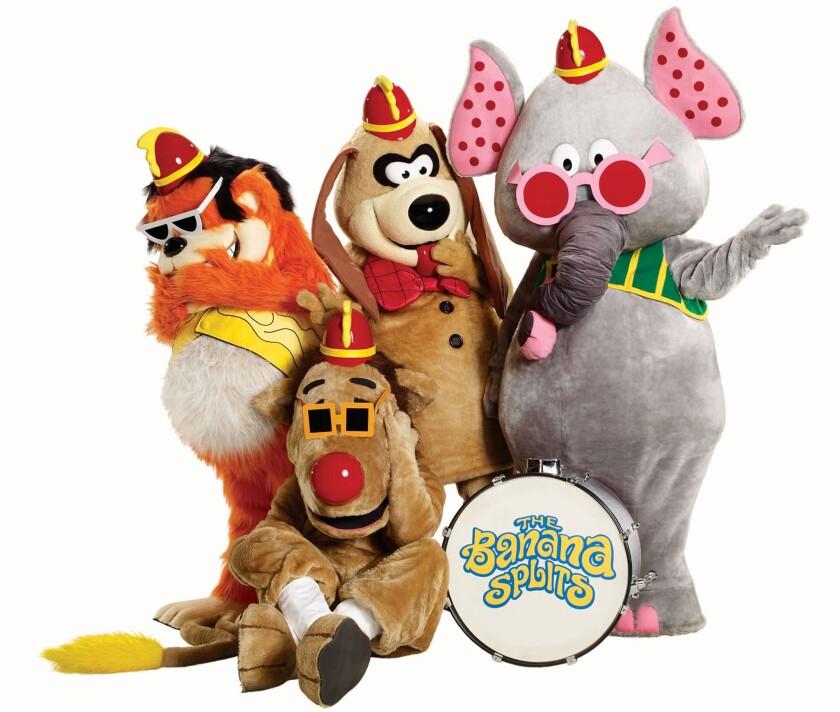 """The Banana Splits"" are Bingo, left, Drooper, Fleegle and Snorky."
