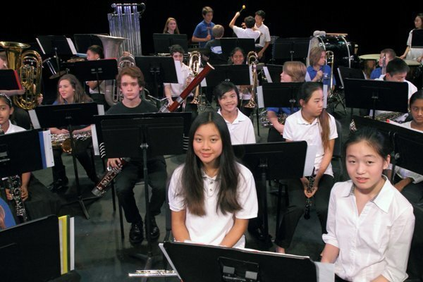 The Middle School Honor Band under the direction of Jeanne Christensen