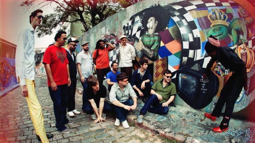 Brooklyn-based Antibalas sits at 12 members strong. (Marina Abadjieff)