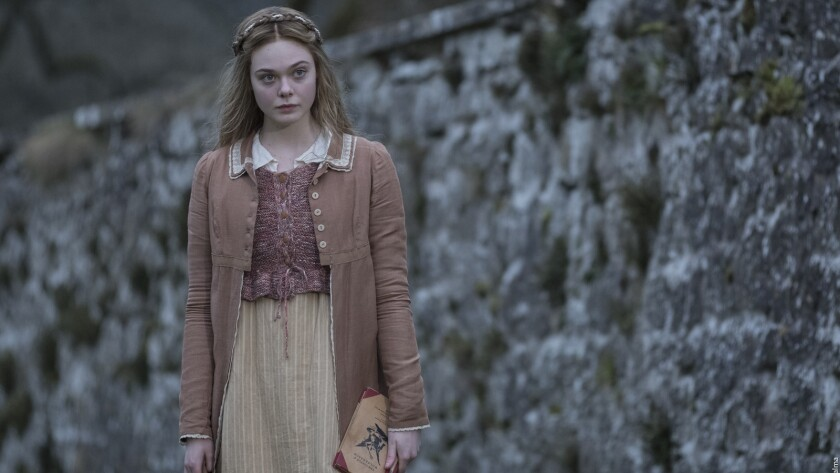 """Elle Fanning in the movie """"Mary Shelley."""""""