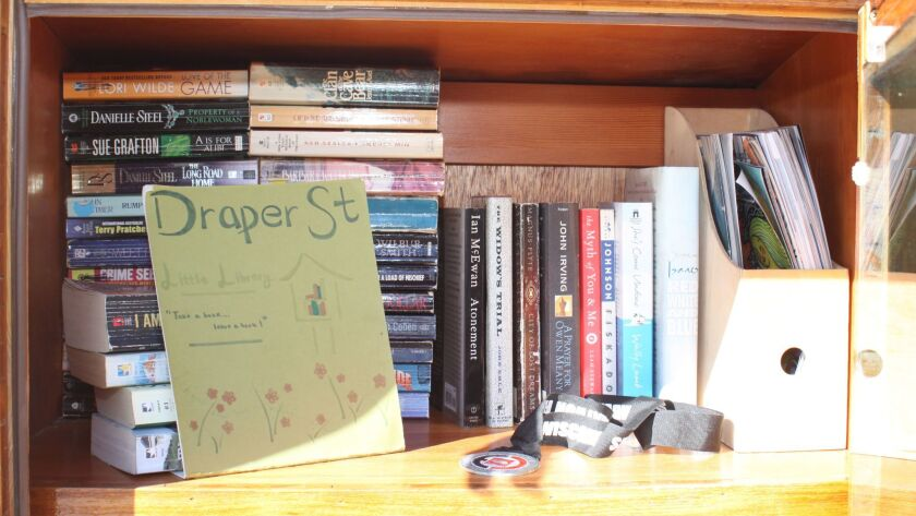 The Little Library with its mystery medal