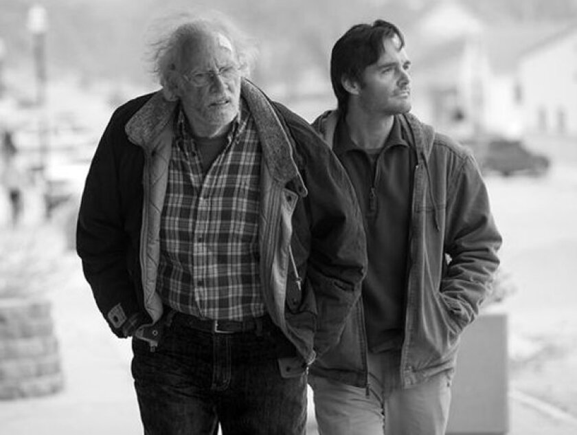 """Still of Bruce Dern and Will Forte in the movie, """"Nebraska."""" Credit: Paramount Pictures"""