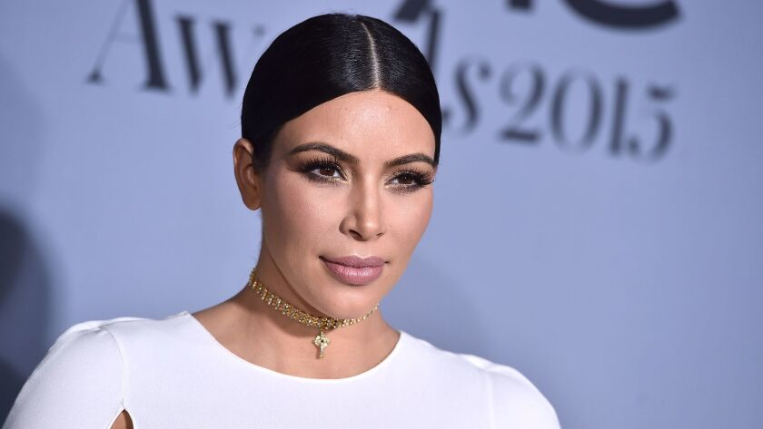 Kim Kardashian attends the InStyle Awards in Los Angeles on Oct. 26, 2015.