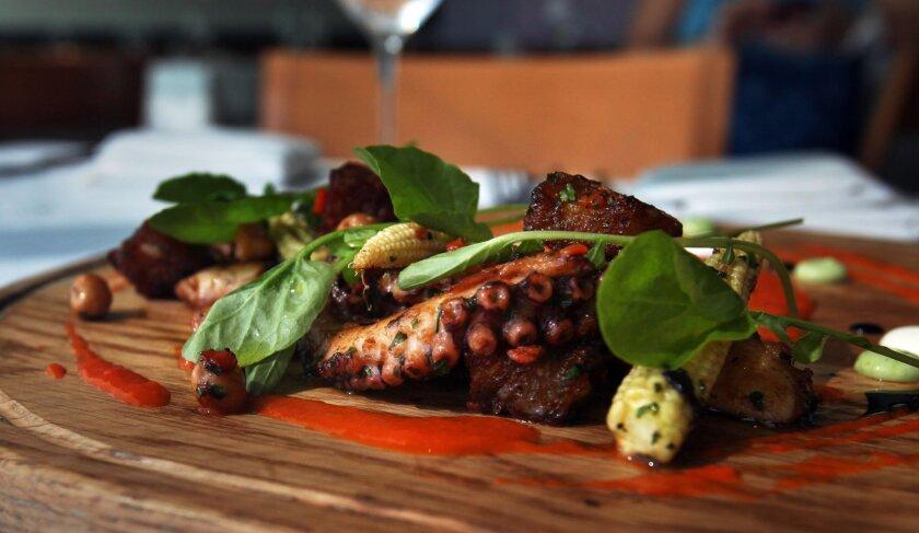 Octopus Panzanella by Danilo Tangalin, executive chef at JRDN.