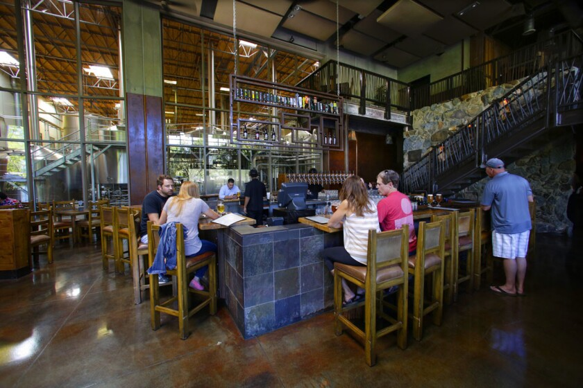 The main dining room at Stone Brewing in Escondido. (Nelvin C. Cepeda/Union-Tribune)