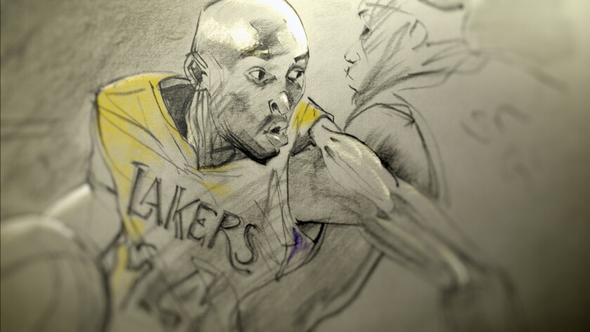 "Kobe Bryant in the animated ""Dear Basketball,"" which won an Oscar and screened in theaters as part of ""The Animation Show of Shows."""