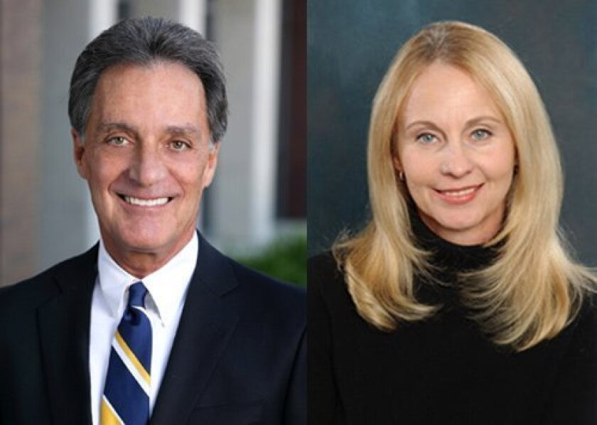 LEFT: David M. Cabot is CEO of Berkshire Hathaway HomeServices California Properties. RIGHT: Nicki Marcellino is manager and vice president of the San Diego County region for Berkshire Hathaway HomeServices. (Courtesy Photos)