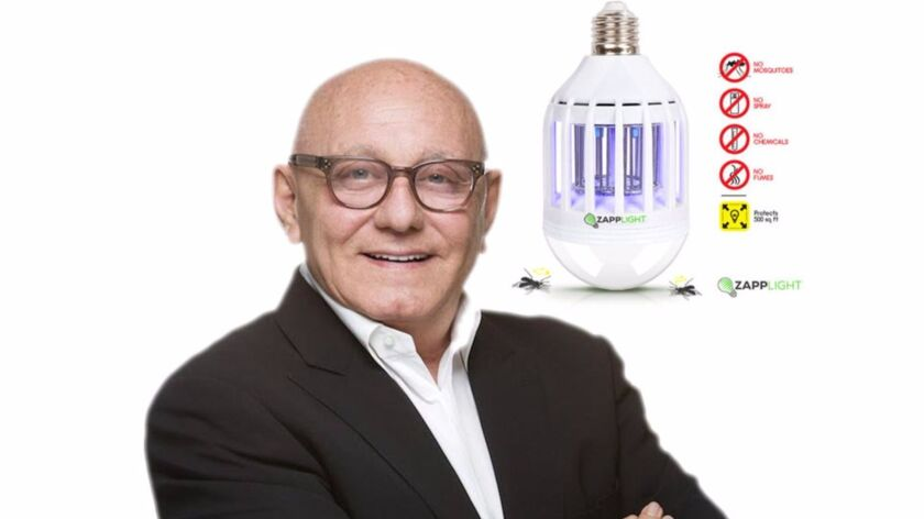 Max Azria, chief executive of Clean Concept LLC and ZappLight, plans to put the spotlight on the global Zika crisis with what's being called the world's first 2-in-1 LED light bulb and bug zapper.