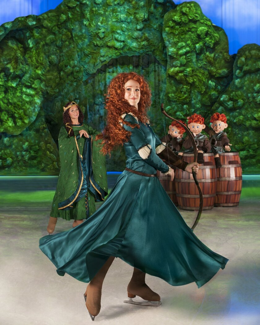 Merida joins the cast of Disney on Ice presents Rockin' Ever After