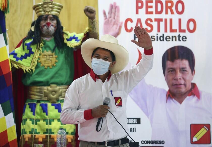 Pedro Castillo, candidato presidencial del partido Perú Libre