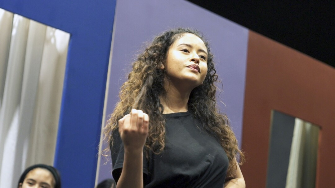 "LACHSA senior Alondra Santos as Maria in ""West Side Story"""