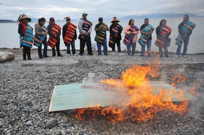 coal export facility protest