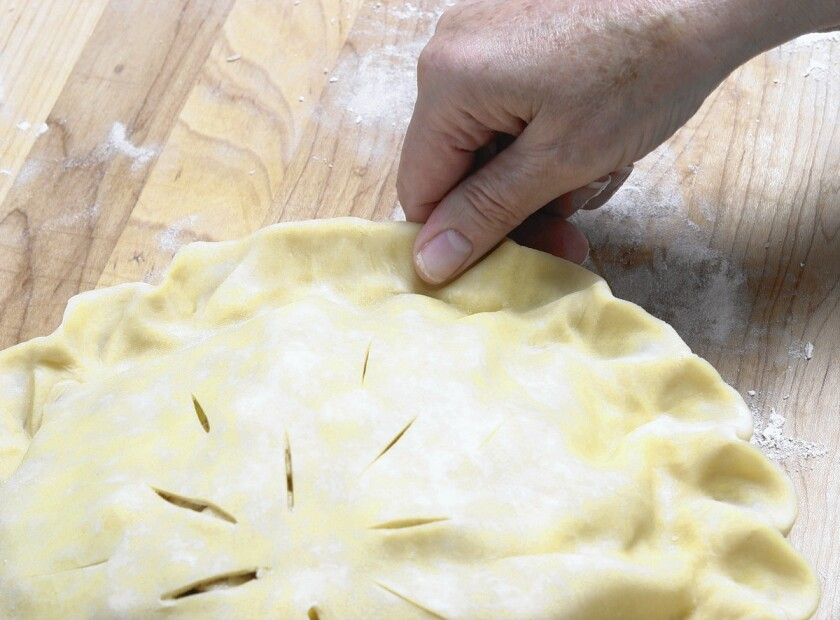 Practice and the ability to watch an experiences pie maker are keys to getting comfortable with pie baking.