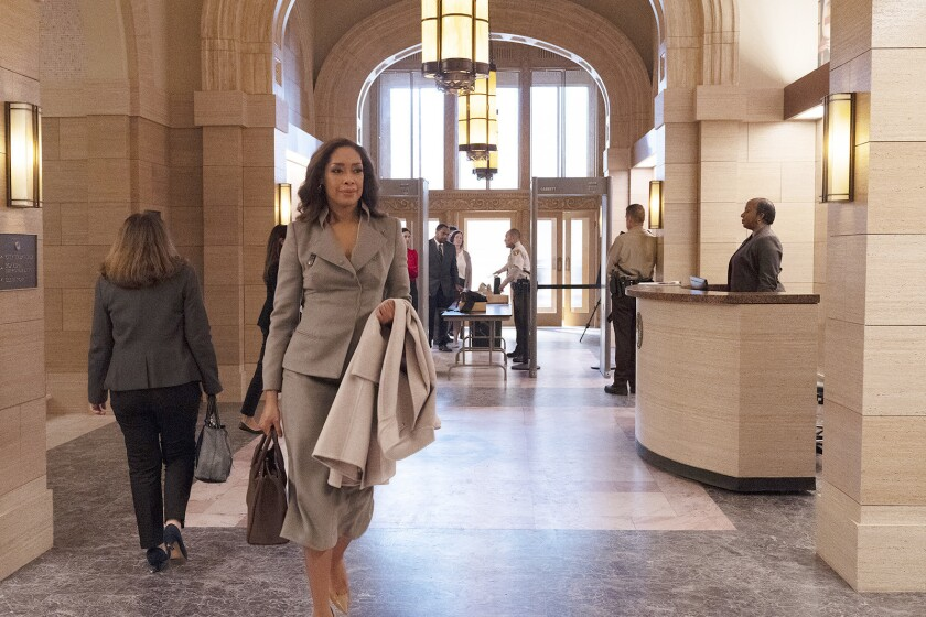 "Gina Torres stars in the new spinoff drama ""Pearson"" airing on USA."