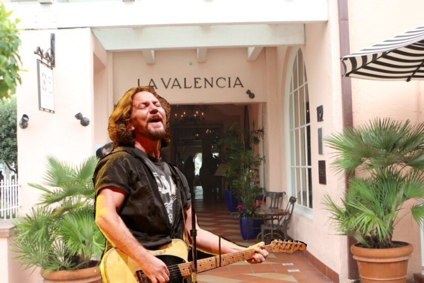 La VEDDER: That time Pearl Jam's singer worked La Valencia