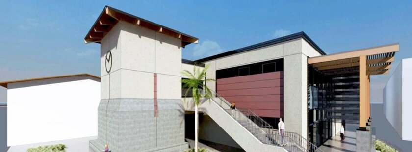 An artist rendering of the planned Bioscience Center at La Jolla High School.