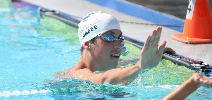 SDA sophomore Noah Jaffe won the 50 and 100 freestyle para events at the 2019 CIF Swimming & Diving Championships.