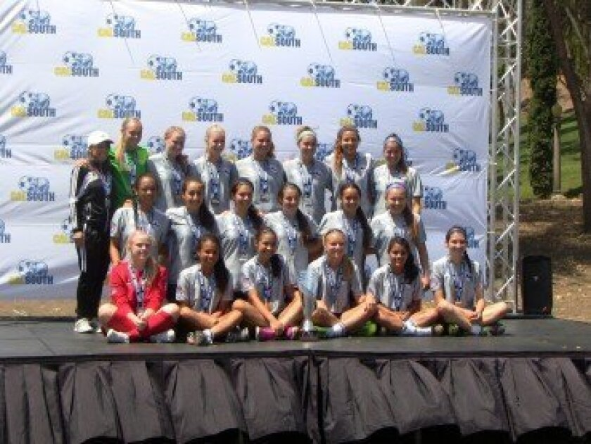 DMCV Sharks GU 17 Elite — 2014 Cal South National Cup Finalists
