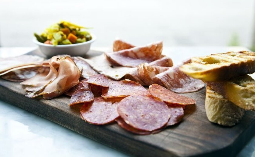 A sample charcuterie creation over at Quality Social, made in-house by chef Jared Van Camp.