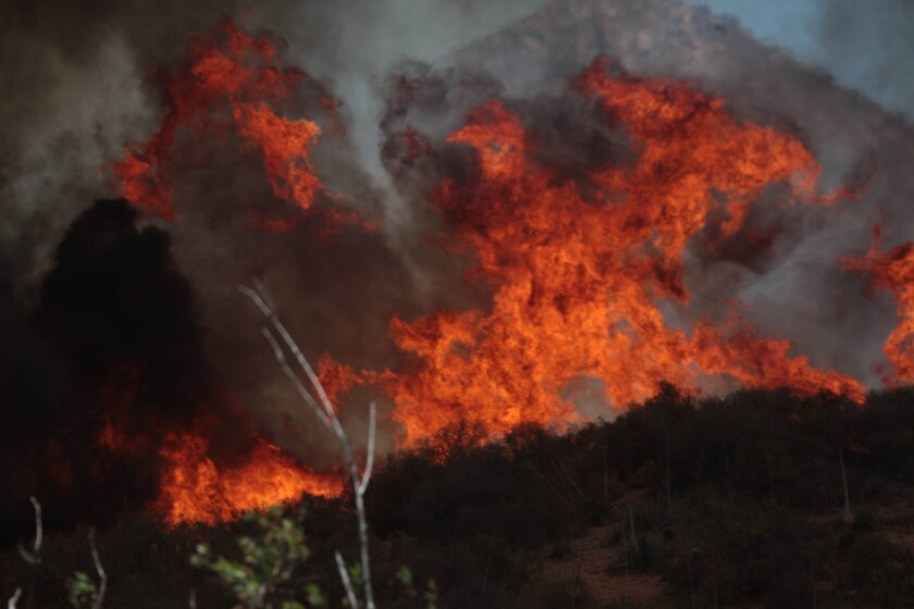 Fire in the Santa Monica Mountains