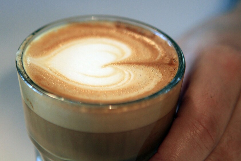 Monday is National Coffee Day. Pictured is a coffee from Sqirl cafe in Los Angeles.