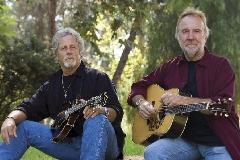 San Diego-bred Rock and Roll Hall of Famer Chris Hillman (left) will perform here in April with longtime collaborator Herb Pedersen (right) at the 2014 edition of Adams Avenue Unplugged.