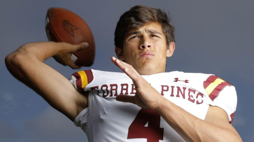 Torrey Pines quarterback Jason Heine was 4-of-5 for 40 yards as the Falcons mostly ran the ball.