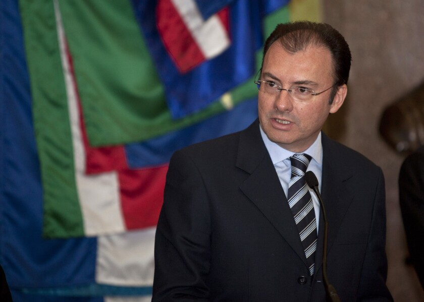 Luis Videgaray, who is believed to have a good relationship with incoming U.S. President Donald Trump, has been named Mexico's foreign secretary.