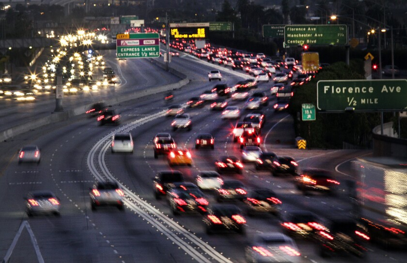 L.A. County transportation officials will examine whether more carpools lanes should have tolls. (Lawrence K. Ho / Los Angeles Times)