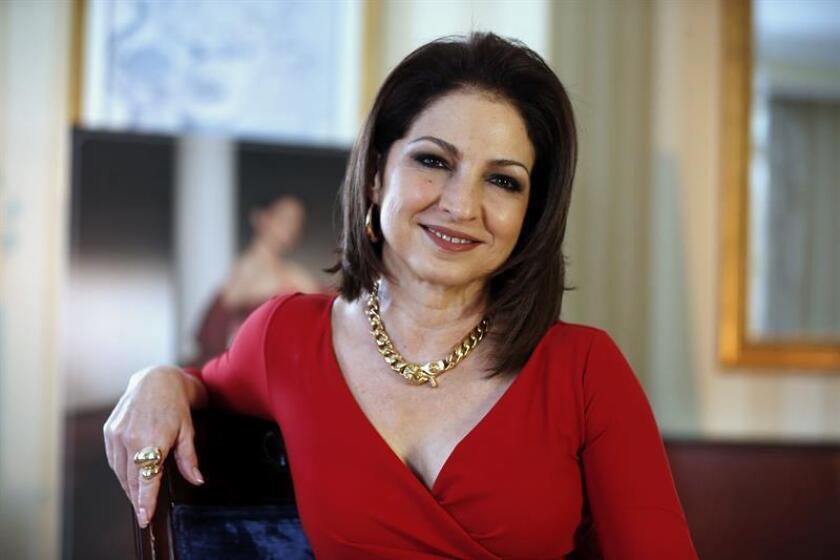 La cantante cubana Gloria Estefan durante una entrevista con Efe. EFE/Archivo