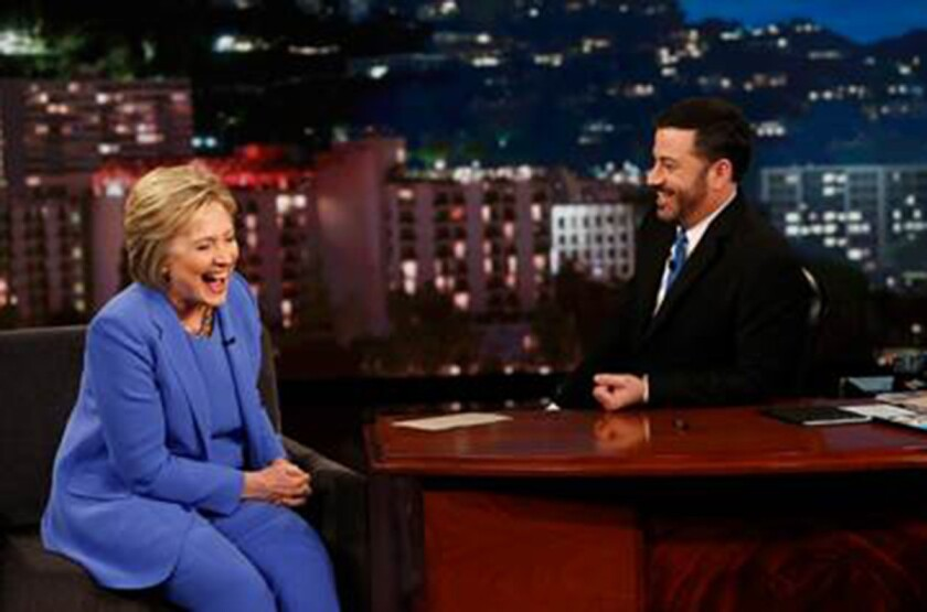 Hillary Clinton and Jimmy Kimmel