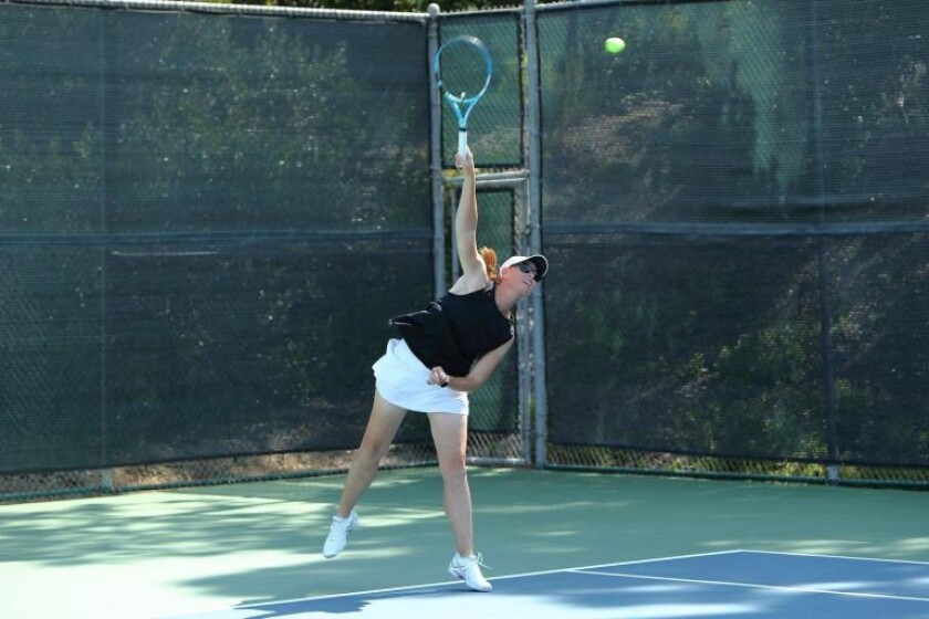 Allie DeNike plays in the 2019 RSF Tennis Club Pro Am.