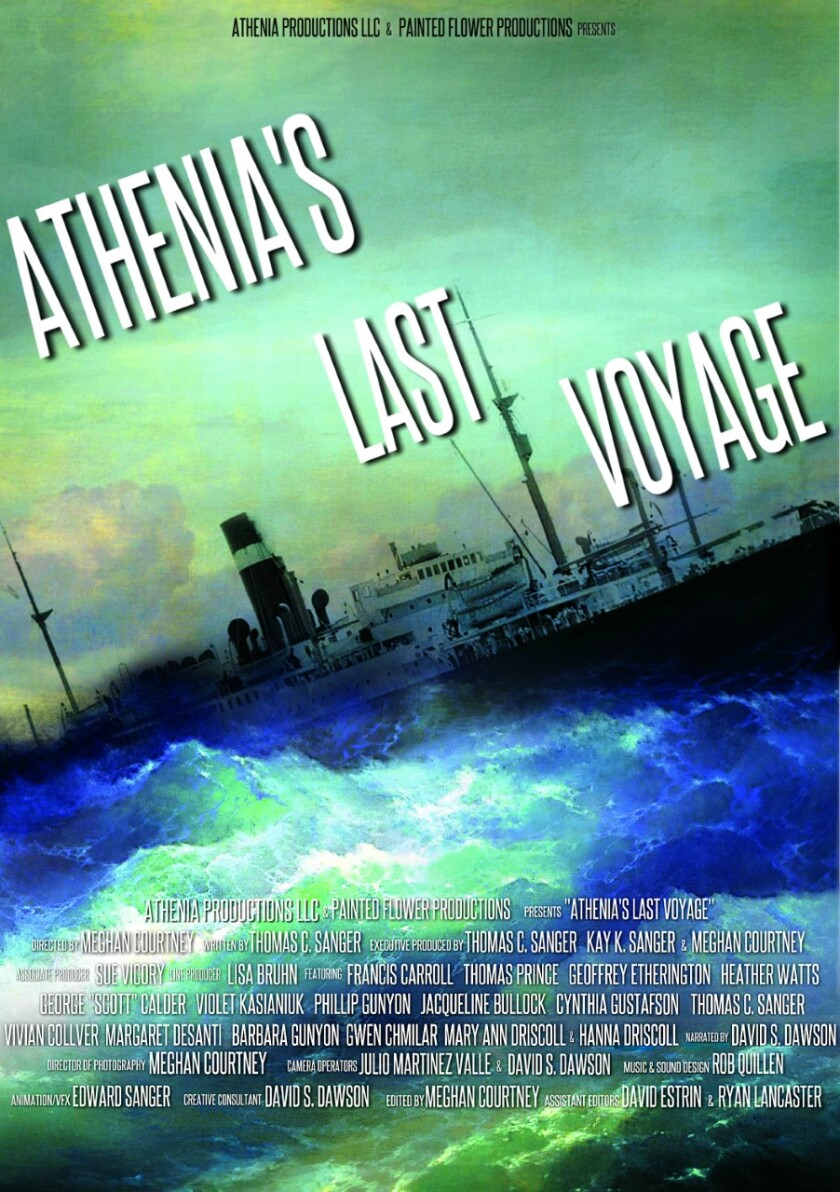 """""""Athenia's Last Voyage"""" is an in-production documentary by La Jollans Tom and Kay Sanger."""