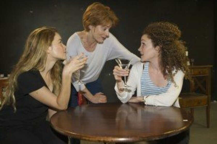 A scene from 'Fallen Angels,' opening Sept. 3 at North Coast Repertory Theatre in Solana Beach.